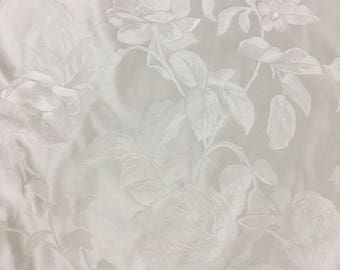 Ivory Brocade with a Rose Pattern