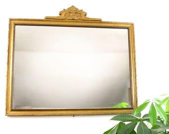 vintage mirror,wall mirror,antique mirror,shabby mirror,art deco mirror,wood mirror,large mirror,vanity mirror,bedroom mirror