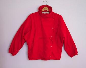 Vintage 1980's Red Serac Ski Jacket Coat M/L