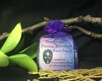 Divine Blessing Salt and Herbal Spiritual Bath Hoodoo Voodoo Santeria Wiccan