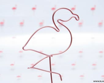 Flamingo Cake Topper / Wire Cake Topper / Summer Cake Topper / Flamingo Birthday Topper / Flamingo Party / Tropical Party / 14 Wire Colors
