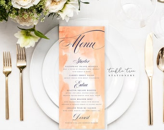 Menu Cards - Mixed Pastels (Style 13749)