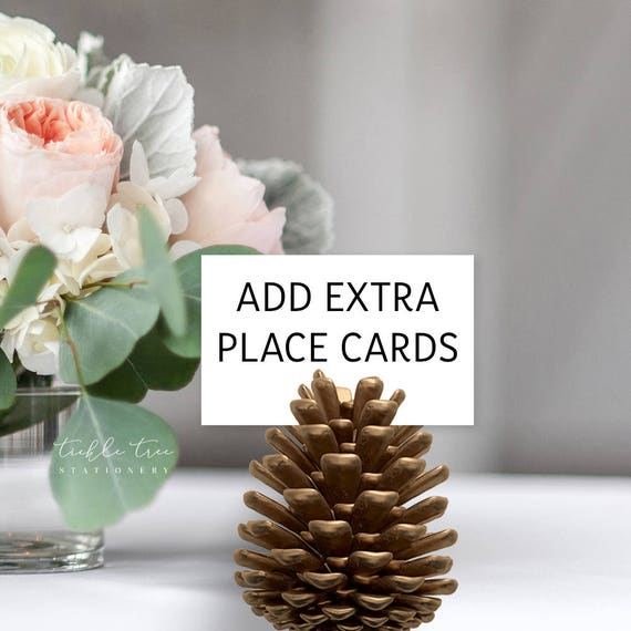 Add Extra Place Cards to Print Order