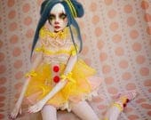 Reserved for Shelby installment  OOAK Handmade Circus Clown Art Doll by Majestic Thorns