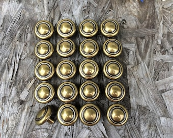 Vintage Brass Drawer Knobs Round Lots Of 10, TWO SETS AVAILABLE, Brass Round Drawer Pulls, Cabinet Knobs, Dresser Knobs, Furniture Hardware