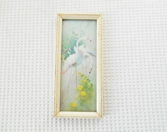 Flamingos Picture Vernon Ward Rhythm in the Pool  Framed Vintage Mini