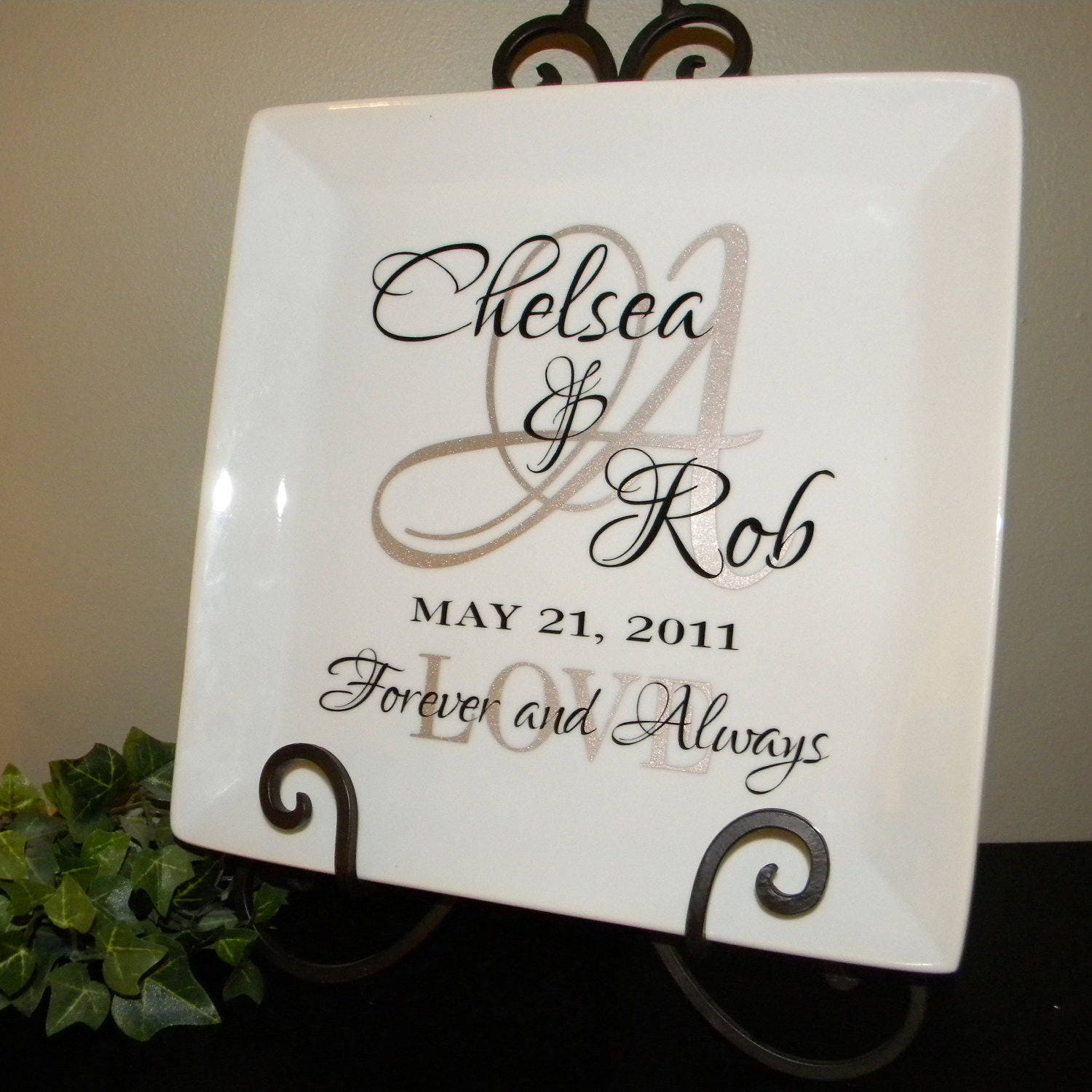 Personalized Wedding Gifts: Personalized Wedding Gift Plate Anniversary Gift For Couple