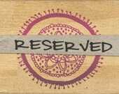 Reserved Listing for John ONLY
