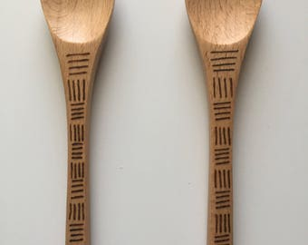 Mini Woodburned Spoon (with thin handle)