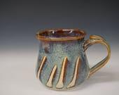 Hello Morning Pottery Coffee/Tea Mug with Thumbrest - Handmade Mug Holds 12oz