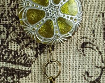 Portuguese Knitting Pin, Czech Art Glass, Worsted Weight Yarn