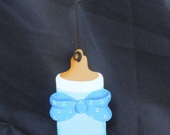 Baby Bottle Ornament/Party Favor/Gift Tag -- OM13