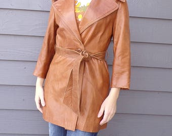 buttery soft VINTAGE LEATHER JACKET coat S