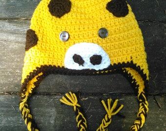 Giraffe Crocheted Hat