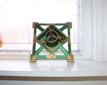 Vintage Christmas Tree Stand Cast Iron with Water Well & Original Box