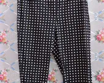 Polka Dot Navy Pinup Capris 80s does 50s  Size Large
