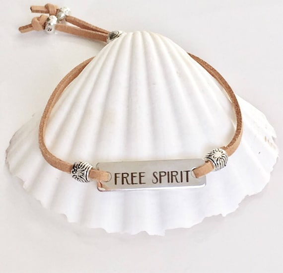 boho bracelet, bohemian jewelry, free spirit vegan suede bracelet