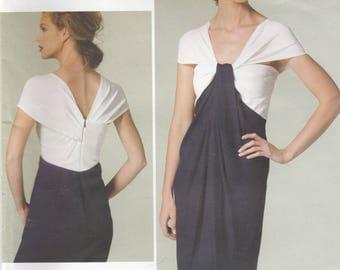 Designer Dress Pattern Vogue 1281 Sizes 6 8 10 12 14 Uncut