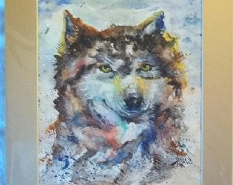 Call of the Wild, Original Matted Watercolor