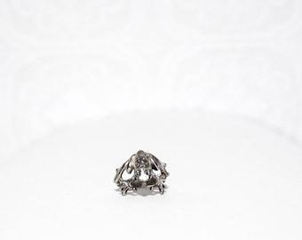 Vintage Silver Frog Ring Size 5.5