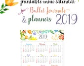 2019 Mini Calendar for Bu...