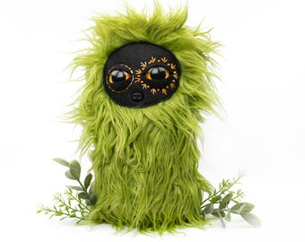 Embroidered Shaggy Green Cool Critter Stuffed Animal