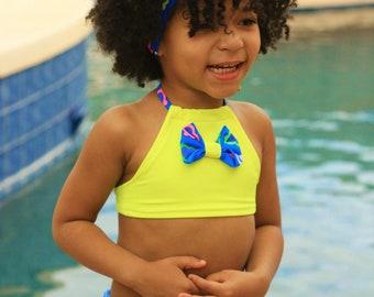 Swimsuit - Girls Birthday Outfit - Yellow Swimsuit - Girls Clothing - Bikini Swimsuit - Blue Swimsuit - Toddler Swimsuit - Girls Swimwear