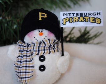 Pittsburgh Pirates Snowman Ornament