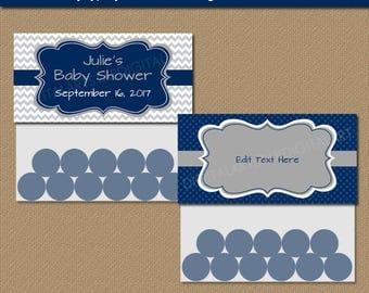Baby Shower Party Supplies, Candy Station Bags, Wedding Goodie Bag Labels, Boy Birthday Treat Bag Toppers, PRINTABLE Favor Bag Labels BB1