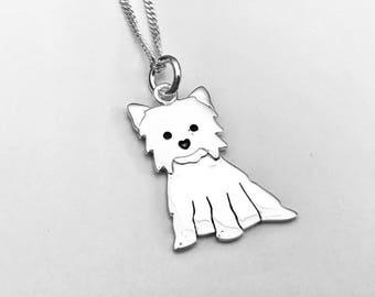 Yorkshire necklace etsy yorkshire terrier necklace yorkie terrier necklace best friend necklace yorkie pendant yorkie aloadofball Choice Image