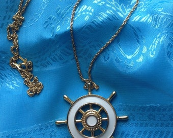 Vintage Trifari ship's wheel necklace