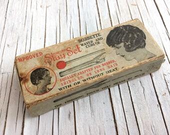 Bobbette Stay Set Waver and curler, vintage hair styling ephemera in it's original box.