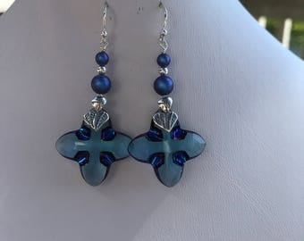 Swarovski Cross Tribe Earrings