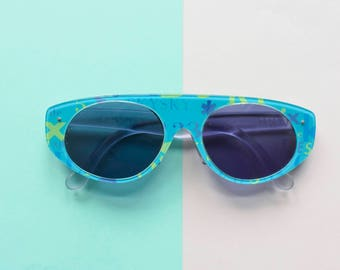 Swatch cat eye sunglasses, floral eyeglasses 90s, womens glasses, 90s eyeglasses, Swatch 90s