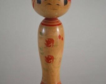 Kokeshi doll, vintage Japanese, signed