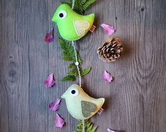 Neon Green Decor, Woodland Nursery, Fun Bird Ornament, Eco Friendly, Themed Kids Room, Gifts for Friends, Party Centerpiece