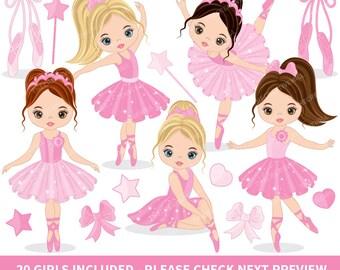 Ballerina Clipart - Vector Ballerina Clipart, Ballet Clipart, Ballerinas Clipart, Tutu Ballerina Clipart, Ballerina Clip Art
