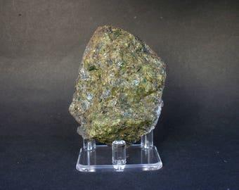 Natural Rough Peridot Olivine Volcanic Bomb Mineral Specimen In Matrix 232  Grams - Olivina Lanzarote /  Olivine Lanzarote