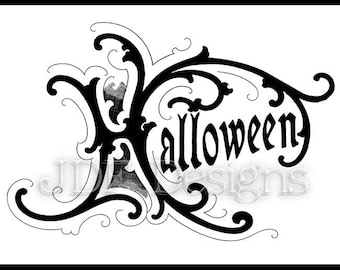 Instant Digital Download, Vintage Victorian Graphic, Halloween Antique Text Lettering, Printable Image, Party, Typography, Gothic, Sign
