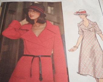 Vintage 1970's Vogue 2818 Paris Original Pierre Cardin Dress Sewing Pattern Size 10 Bust 32.5