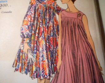 Vintage 1960's Vogue 7069 Special Design Dress Sewing Pattern Size 16 Bust 36