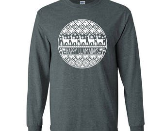 Happy Llamadays, Llama Shirt, Funny Christmas Shirts, Funny Llama Christmas Shirt, Llama XMAS, Llama Christmas T-Shirt, Unisex Tee
