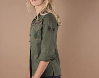 60s Vintage Army Shirt | US Air Force Shirt | Army Jacket