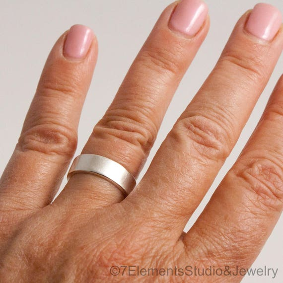 6mm Satin Sterling Silver Band