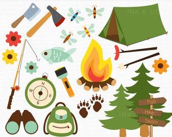 Camping Clipart Etsy - Camping clip art