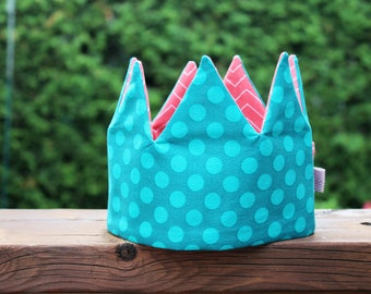 teal dots Kid Pretend & dress-up Crown