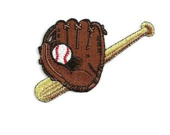 Baseball - Baseball Glove/Bat&Ball - Sports - Coach - Embroidered Iron On Patch