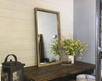 Distressed Mirror, White Mirror, Window Mirror, Vanity Mirror, Bathroom Mirror, Wall Mirror, Home Decor Living Room Mirror, Bedroom Mirror