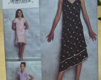 FREE SHIPPING! Vogue 7990 Vogue Girl pullover lined dresses sewing pattern 7 8 10 UNCUT