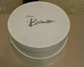 Vintage Round Bramson Hat Box with Cord Handle
